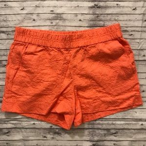 JCrew Boardwalk Shorts Orange Jacquard Sz 2